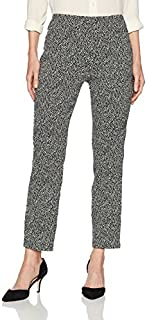 RUBY RD. Women's Pull-on Double Faced Tweed Jacquard Ankle Pant