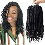 6 Pack Senegalese Spring Twist Crochet Hair Curl End Bomb Twist Crochet Hair 12 Inch Synthetic Hair Extensions Fluffy Spring Twist Crochet Braids