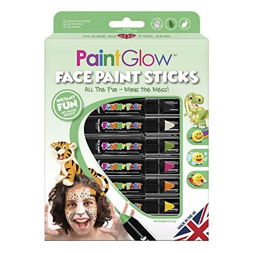 PaintGlow - Face Paint Sticks - Abenteuer Schmink-Set für Kinder - 6 Schminkstifte - Dschungel