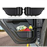 BEIJIAOFLY 2PCS ABS Car Interior Side Rear Door Storage Box Trunk Organizers for Jeep Wrangler JL 2018 2019 Gladiator JT 2020 Black Container Tidying Buckle Installation Accessories