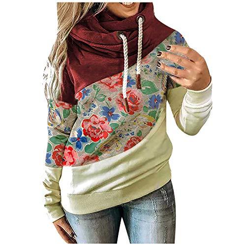 VEMOW Kapuzenpullover Damen Herbst Winter Rollkragen Hoodie Sweatshirt Casual Langarm...