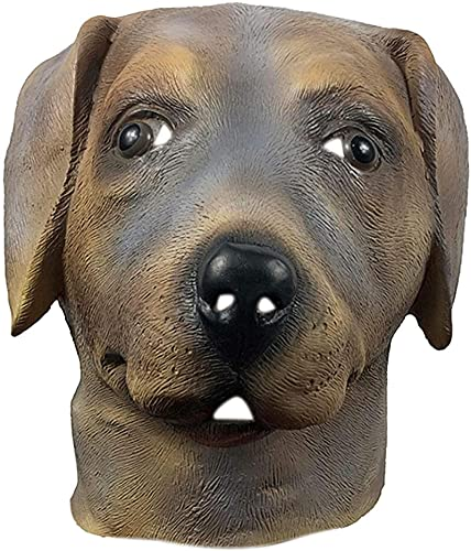 WHXL Labrador Retriever Máscara de cabeza de perro, cabeza de animal lindo para la fiesta de la masquerade, accesorios divertidos para la fiesta de Halloween