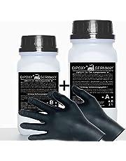 10,5 kg Resina epoxi 2C + guantes, dos componentes Madera Cristal Transparente para laminar Resina de epoxy para mesa suelo Terra Acuario Formas Diseño UV Estable adhesivo