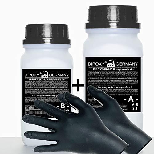 3 kg Resina epoxi 2C + guantes, dos componentes Madera Cristal Transparente para laminar Resina de epoxy para mesa suelo Terra Acuario Formas Diseño UV Estable adhesivo