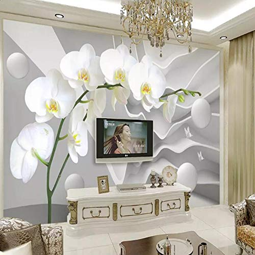 Fototapeten Wandbilder Schmetterling Orchidee Ball Fototapete 3D Wohnzimmer Schlafzimmer Fernseher Hintergrund Tapeten Wandbilder, 200 Cm X140 Cm