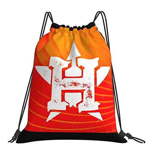 Ho-uston As-tros - Bolsa de gimnasio con cordón, mochila deportiva grande, con cordón, para mujeres, hombres, niños, viajes, playa, escuela, impermeable