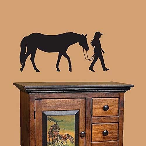 Pferd & Reiter Vinyl Wandtattoo Aufkleber Home Decoration Wandaufkleber A1 40x90cm