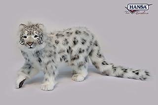Hansa Standing Snow Leopard Plush, 78 cm L