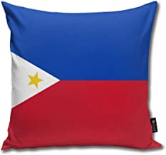 Philippines Flag Funny Square Throw Pillow Cases Cushion Cover for Bedroom Living Room Decorative 18X18 Inch