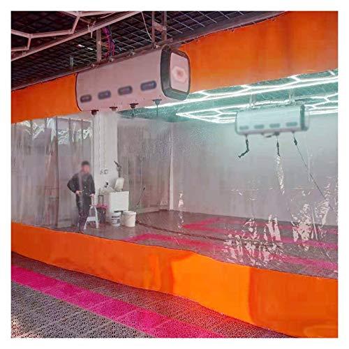 BAIYING Lona De Aislamiento Térmico Y Cortavientos, Lona De PVC De 0,5 Mm, Cortina De Puerta Impermeable, para Pérgola/Porche/Balcón Exterior (Color : Orange, Size : 3X2.6m)