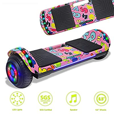 Latest Model Electric Hoverboard Dual Motors Two Wheels Smart self Balancing Scooter with Built in Speaker LED Lights for Gift (Image 4)