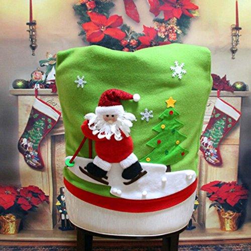 HENGSONG Weihnachtsdeko Weihnachts Stuhlhussen Stuhlüberzug Stuhlabdeckung Küchen Stuhlhussen Home Party Dekoration (Weihnachtsmann)