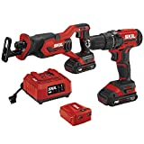 SKIL 2-Tool Combo Kit: 20V Drill Driver and Reciprocating Saw, Includes Two 2.0Ah Lithium Batteries, PWRAssist USB Charging Adapter and One Charger - CB739401