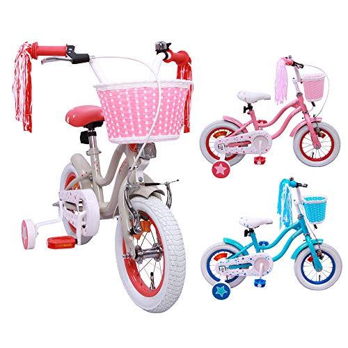 AMIGO Superstar - Kinderfiets - 12 inch - Meisjes - Met zijwieltjes en terugtraprem - Vanaf 3 jaar - Beige