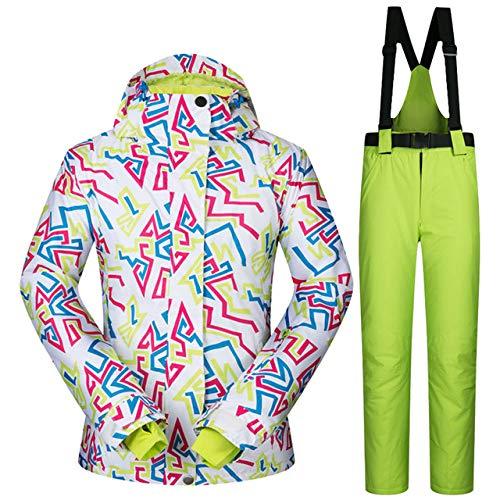 JSGJHXFWinter Skipak voor dames, winddicht, waterdicht, ademend, warmte, sneeuw, kleding jas, dames, merk, snowboardpak