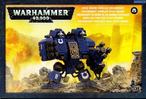 "Games Workshop 99120101076"" Space Marine Ironclad Dreadnought Tabletop and Miniature Game"