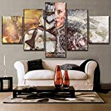 WYJIE One Set 5 Panel Movie Crossover Poster Home Pintura Decorativa sobre Lienzo de impresión y en la Pared Decoración de Arte Imagen modularFramed40x60cm40x80cm40x100cm