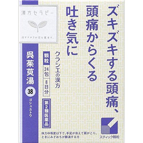 【第2類医薬品】呉茱萸湯エキス顆粒 24包 ×3