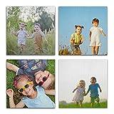 MNSRUU Personalized Photo Print Wall Art,4 Panels Custom...