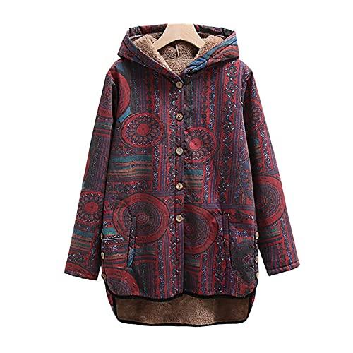 APOKIOG Chaqueta con capucha para mujer con forro interior de contraste, básica, con cremallera y capucha, de alta calidad, Rojo sandía, S
