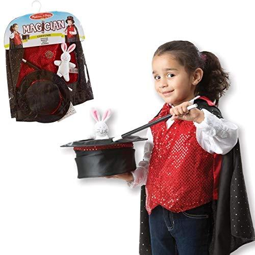Melissa and doug - COSTUME déguisement MAGICIEN enfants de 3 à 6 ans Cape, baguette, haut-de-forme + Accessoires