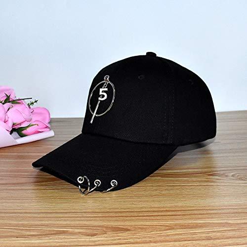 Sombrero Mujer Personalidad Coreana Gorra de aro de Cadena Gorra de béisbol de excursión para Estudiantes Sombrero de Sol de Primavera y Verano Salvaje