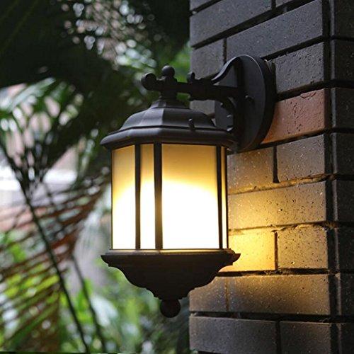 Paire de Noir Moderne D/'extérieur DEL IP44 Rated Porche Jardin mur de lumière lanternes