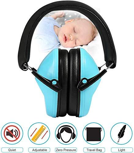 LEADSTAR Kinder Gehörschutz Kapselgehörschutz Ohrenschützer Baby Kinder von 3-12 Jahre für Feuerwerkskörpern Sportveranstaltungen Karnevalsumzügen Autorennen Flughäfen Lärmpegel NRR25dB SNR31dB, Blau