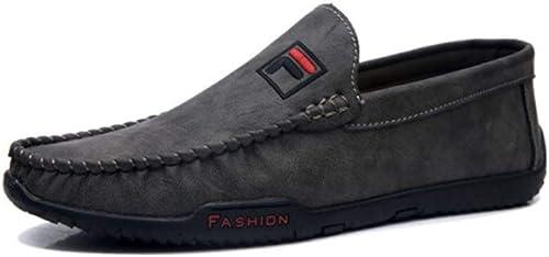 GUYUEXUAN Peas chaussures, Chaussures de de de Conduite Estivales for Hommes, Chaussures de Ville, Chaussures décontractées, personnalité Sauvage, Trois Couleurs en Option 938