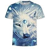 ASHGNV Lobo Camiseta para Hombre con Estampado en 3D, Camisetas...