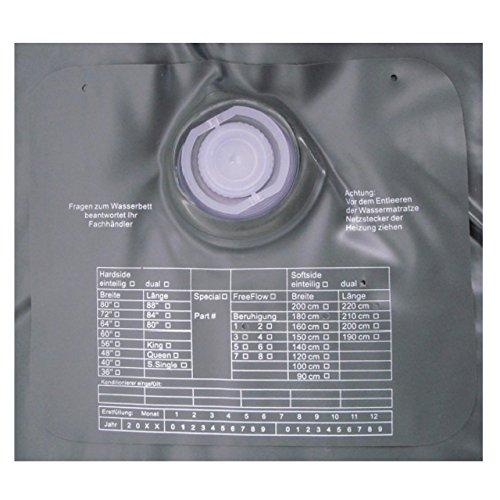 ABBCO Kuss Wassermatratze - Wasserkern Mesamoll II Softside für Duales WB 180x220 cm F0 = Nachschwingzeit ca. 10-15 Sek