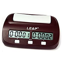 Professional LEAP PQ9907S Digital Chess Clock Count Up Down Timer with Clock