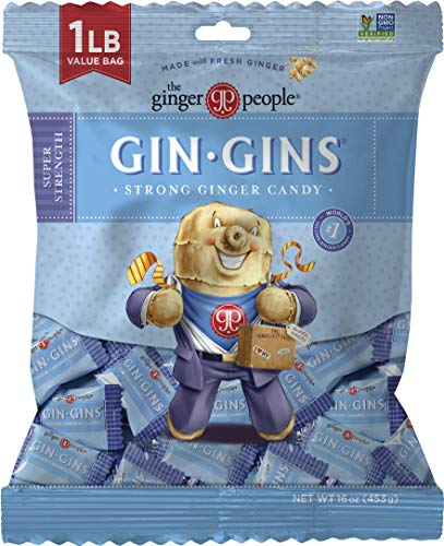 The Ginger People Gin Gins Super Strength Hard Ginger Candy, 16 Ounce from The Ginger People