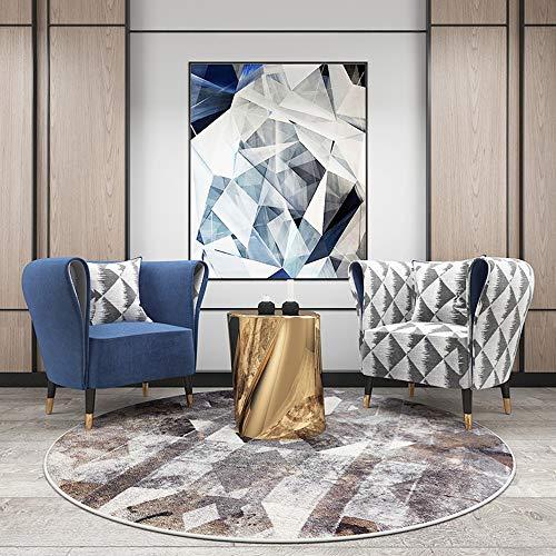 weiwei Alfombra redonda de felpa, moderna, ligera y de lujo con gruesa protección, para el hogar, silla giratoria para colgar, para sala de estar, dormitorio, estudio, 140 x 140 cm