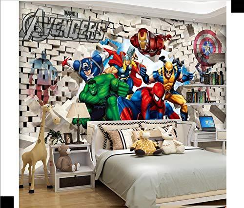 Personalizado 3D de dibujos animados para niños habitación niño dormitorio papel tapiz fondo decoración de pared pintura 6