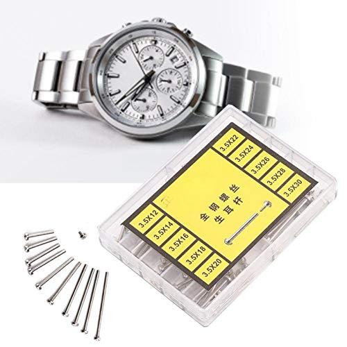 Accesorio de pernos de reloj de barra de resorte de reloj de material de acero con 10 tamaños