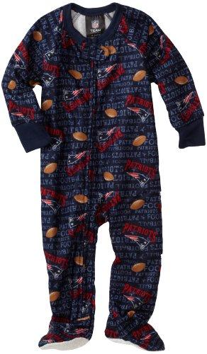 NFL Infant/Toddler Boys' New England Patriots Blanket Sleeper (Team Color, 18M)