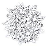 Ramo De Flores Broche Pin Pasador Cristal Diamante Imitacion Para Novia Boda