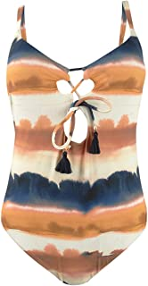 Lucky Brand Women's Tie Front One Piece Swimsuit