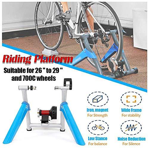 TANCEQI fietstrainer voor binnen en buiten, magnetische weerstandstrainer, voor mountainbike, trainer