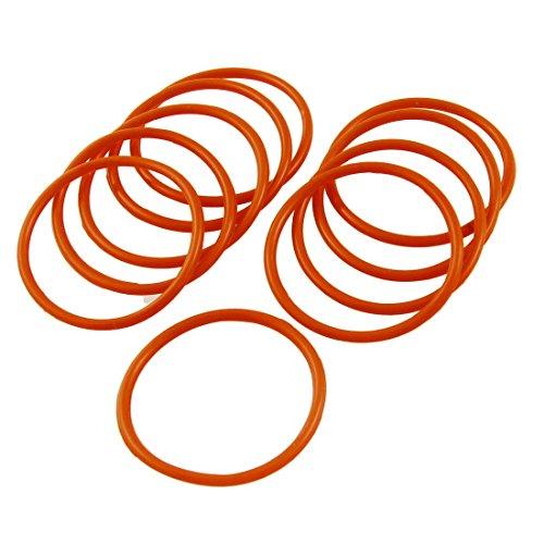 YeVhear Silikonfiltergehäuse, O-Ring, Dichtungsringe, 42 x 37 x 2,5 mm, 10 Stück
