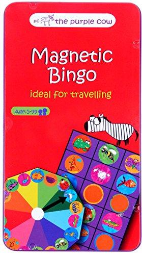 Fournier- Animal Bingo Game Juego Magnético de Viaje, Color Rojo (1034982)