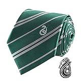 Cinereplicas - Harry Potter - Krawatte mit Anstecknadel - Deluxe Edition- Offiziel lizensiert - Slytherin - Einheitsgröße – 100 %...