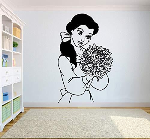 mlpnko Wandtattoo Vinyl Aufkleber für Kinderzimmer Cartoon Familie Interieur Mädchen Kunst Wandbild 108X68cm