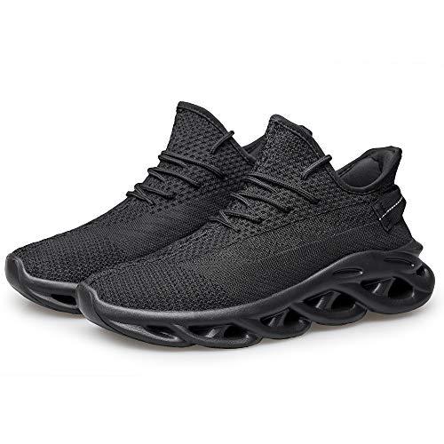 [Caligen]スニーカーメンズシューズランニングシューズスポーツシューズ運動靴ジムウォーキングシューズトレーニングシューズメンズレディースクッション性通気軽量通学通勤日常着用男女兼用履きやすい25.0cm