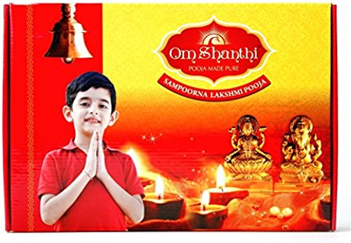 Om Shanthi Sampoorna Lakshmi Pooja Pack With Audio CD Booklet And All Essentials 34 Item