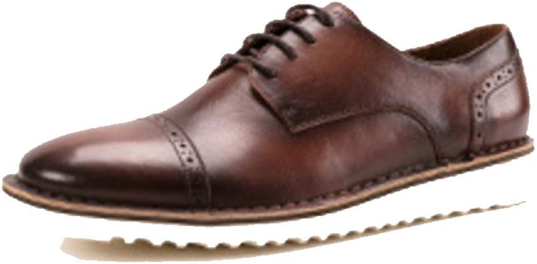 ZPJSZ England Leisure Business läder läder läder skor Retro Broch bilved Derby skor herrar skor, CoffeeFärg -38  rabatt på nätet