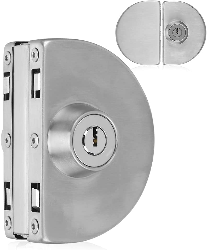 supreme Door Lock Glass Large-scale sale Stainless Frameless Iron for Do
