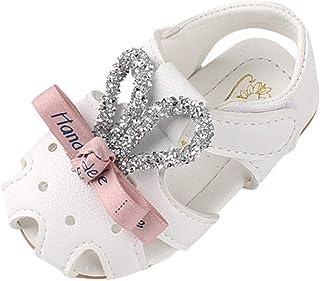 DolceTiger Sandales Bébé Fille Douces et Respirantes Fleur Sandales Fille Mignon Confortable Chaussures pour Tout-Petits à...