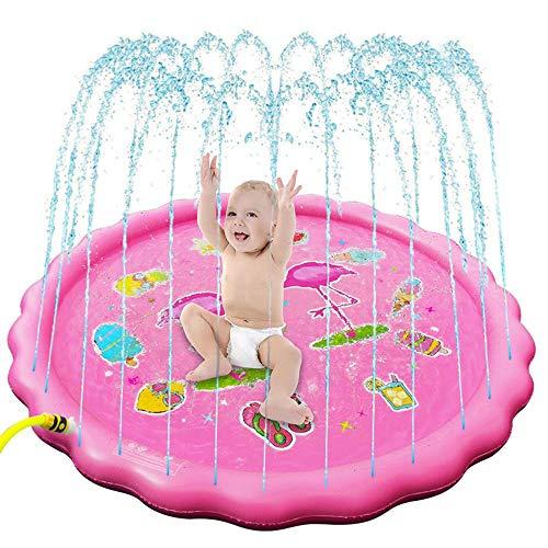 ILYO Almofada de respingos automática, almofada de irrigação de brinquedo infantil para o verão, piscina, jardim, água, brinquedo de 170 cm, adequado para festa na praia e na piscina